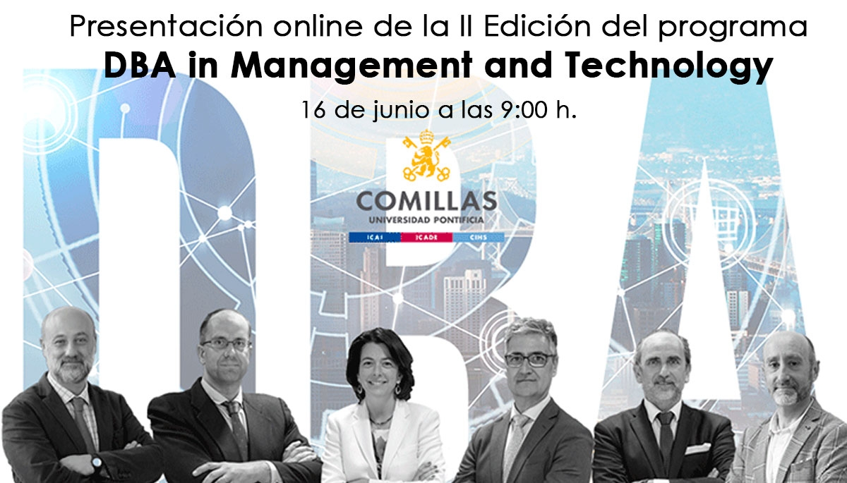 Presentación online de la II Edición del programa DBA in Management and Technology