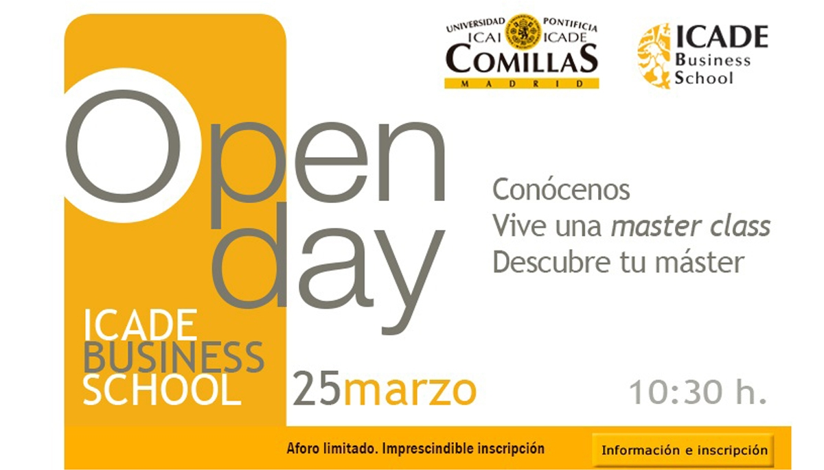 OPEN DAY MASTERS en ICADE BUSINESS SCHOOL